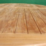Teak Fixed Oval Table