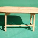 Teak Fixed Oval Table