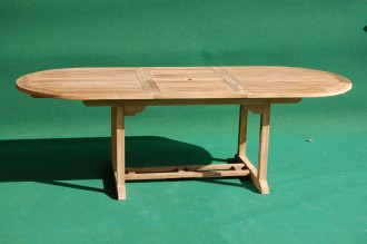 Teak Oval Extending Table