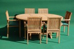Teak Round Extending Stacking Set
