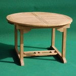 Teak Round Extending Table
