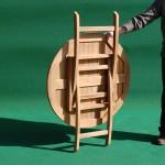 Teak folding table 90 cm