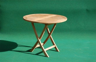 Teak folding table 90 cm