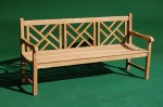 Teak Criss-Cross Bench 3 Seater