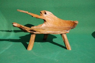 Teak Root Bench Small