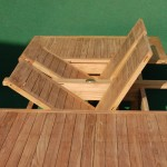 Teak Double Extending Rectangular Table