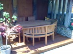 Teak Garden Furniture Bench Table and Chair Set